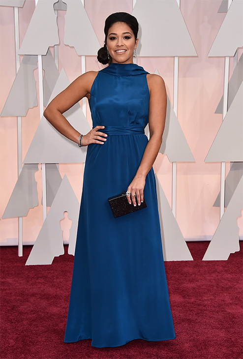 "<div class=""meta image-caption""><div class=""origin-logo origin-image none""><span>none</span></div><span class=""caption-text"">Gina Rodriguez arrives at the Oscars. (AP Photo)</span></div>"