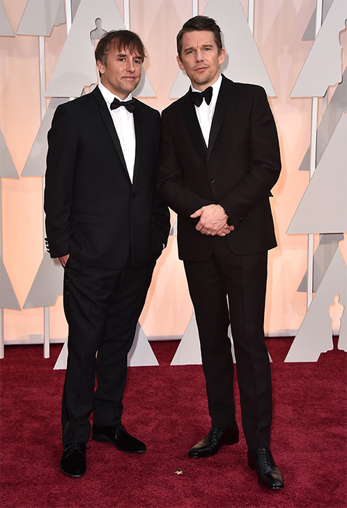 "<div class=""meta image-caption""><div class=""origin-logo origin-image none""><span>none</span></div><span class=""caption-text"">Richard Linklater, left, and Ethan Hawke arrive. (AP Photo)</span></div>"
