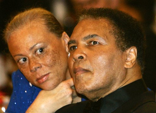 <div class='meta'><div class='origin-logo' data-origin='none'></div><span class='caption-text' data-credit='AP'>In this Dec. 17, 2005 file photo, boxing legend Muhammad Ali is seen with his wife, Lonnie.</span></div>