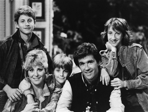 "<div class=""meta image-caption""><div class=""origin-logo origin-image ap""><span>AP</span></div><span class=""caption-text"">Starring as the Seaver Family on ABC's ""Growing Pains"" are: Kirk Cameron as Mike, Joanna Kerns as Maggie, Jeremy Miller as Ben, Alan Thicke as Jason and Elizabeth Ward as Carol. (AP Photo)</span></div>"
