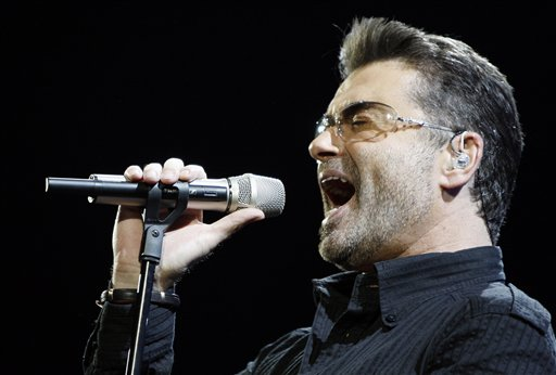 "<div class=""meta image-caption""><div class=""origin-logo origin-image ap""><span>AP</span></div><span class=""caption-text"">Singer George Michael performs during his ""Live Global Tour"" concert in Inglewood, Calif. on Wednesday, June 25, 2008. (AP Photo/Matt Sayles)</span></div>"