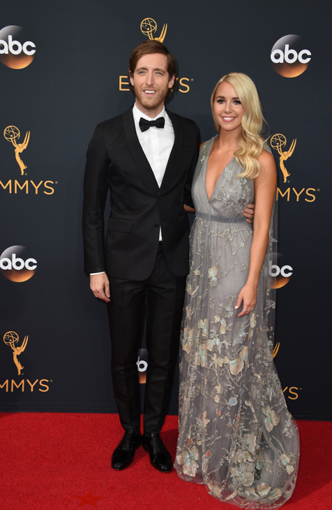 <div class='meta'><div class='origin-logo' data-origin='AP'></div><span class='caption-text' data-credit='Jordan Strauss/Invision/AP'>Thomas Middleditch, left, and Mollie Gates arrive at the 68th Primetime Emmy Awards on Sunday, Sept. 18, 2016, at the Microsoft Theater in Los Angeles.</span></div>