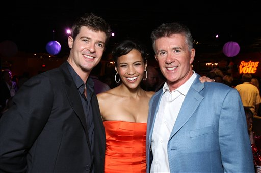 "<div class=""meta image-caption""><div class=""origin-logo origin-image ap""><span>AP</span></div><span class=""caption-text"">Robin Thicke, Paula Patton and Alan Thicke at the World Premiere of Touchstone Pictures' ""Swing Vote"" on July 24, 2008 at the El Capitan Theatre in Hollywood, CA. (Eric Charbonneau/Invision/AP)</span></div>"