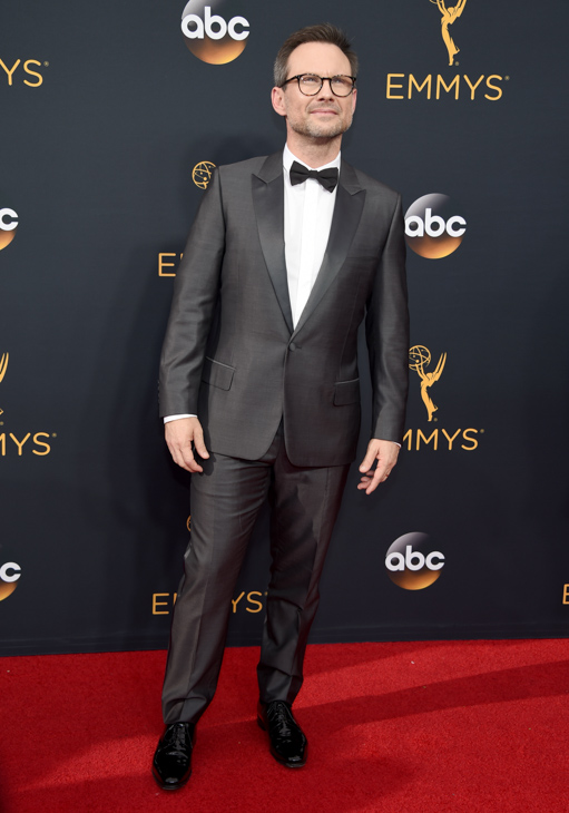 <div class='meta'><div class='origin-logo' data-origin='AP'></div><span class='caption-text' data-credit='Phil McCarten/Invision/AP'>Christian Slater arrives at the 68th Primetime Emmy Awards on Sunday, Sept. 18, 2016, at the Microsoft Theater in Los Angeles.</span></div>