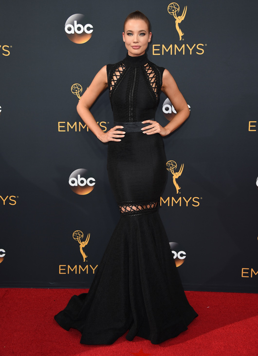 <div class='meta'><div class='origin-logo' data-origin='AP'></div><span class='caption-text' data-credit='Jordan Strauss/Invision/AP'>Stephanie Corneliussen arrives at the 68th Primetime Emmy Awards on Sunday, Sept. 18, 2016, at the Microsoft Theater in Los Angeles.</span></div>