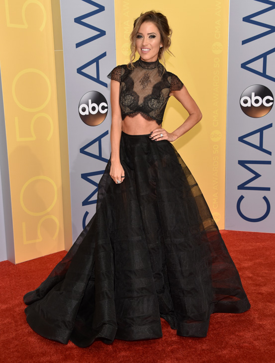 "<div class=""meta image-caption""><div class=""origin-logo origin-image none""><span>none</span></div><span class=""caption-text"">Kaitlyn Bristowe arrives at the 50th annual CMA Awards at the Bridgestone Arena on Wednesday, Nov. 2, 2016, in Nashville, Tenn. (Evan Agostini/Invision/AP)</span></div>"