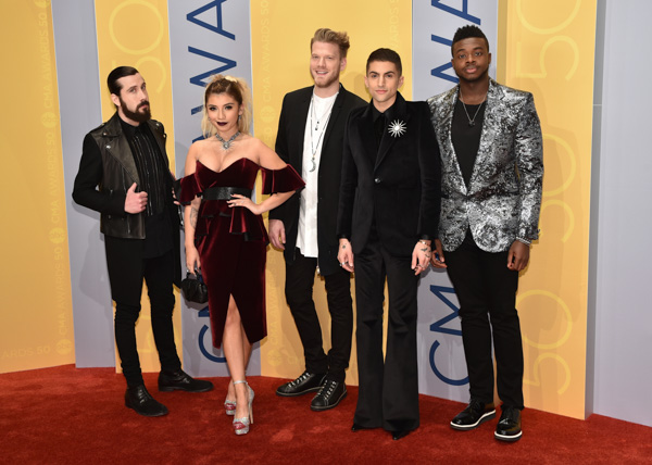 "<div class=""meta image-caption""><div class=""origin-logo origin-image none""><span>none</span></div><span class=""caption-text"">Pentatonix arrive at the 50th annual CMA Awards at the Bridgestone Arena on Wednesday, Nov. 2, 2016, in Nashville, Tenn. (Evan Agostini/Invision/AP)</span></div>"