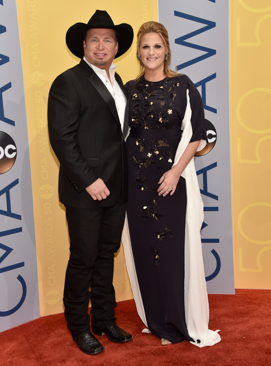 "<div class=""meta image-caption""><div class=""origin-logo origin-image none""><span>none</span></div><span class=""caption-text"">Garth Brooks, left, and Trisha Yearwood arrive at the 50th annual CMA Awards at the Bridgestone Arena on Wednesday, Nov. 2, 2016, in Nashville, Tenn. (Evan Agostini/Invision/AP)</span></div>"