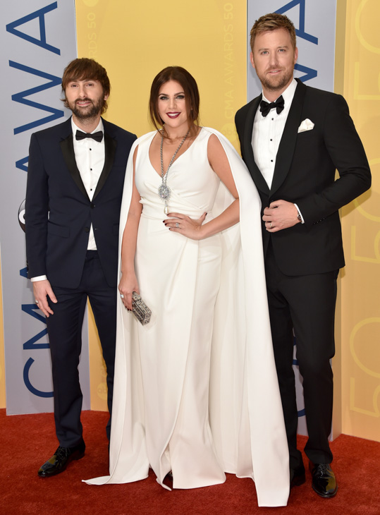"<div class=""meta image-caption""><div class=""origin-logo origin-image none""><span>none</span></div><span class=""caption-text"">Lady Antebellum arrives at the 50th annual CMA Awards at the Bridgestone Arena on Wednesday, Nov. 2, 2016, in Nashville, Tenn. (Evan Agostini/Invision/AP)</span></div>"