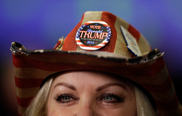 "<div class=""meta image-caption""><div class=""origin-logo origin-image none""><span>none</span></div><span class=""caption-text"">Donna Deer, a supporter of Republican presidential candidate Donald Trump, waits to be interviewed during an election night rally in Indianapolis, Tuesday, Nov. 8, 2016. (Michael Conroy/AP Photo)</span></div>"