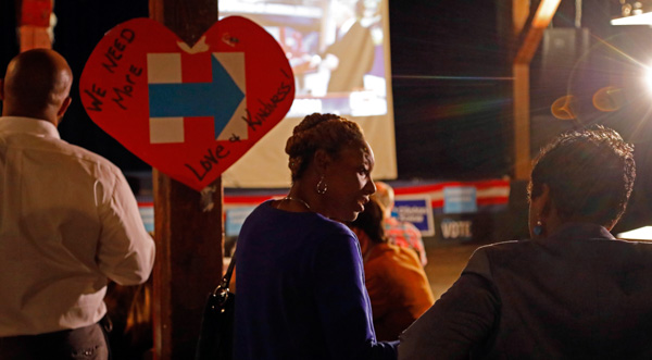 <div class='meta'><div class='origin-logo' data-origin='none'></div><span class='caption-text' data-credit='Rogelio V. Solis/AP Photo'>Democratic presidential candidate Hillary Clinton supporters show their disbelief at the growing number of electoral votes Republican presidential candidate Donald Trump is getting</span></div>