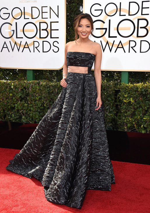 <div class='meta'><div class='origin-logo' data-origin='none'></div><span class='caption-text' data-credit='Jordan Strauss/Invision/AP'>Jeannie Mai arrives at the 74th annual Golden Globe Awards at the Beverly Hilton Hotel on Sunday, Jan. 8, 2017, in Beverly Hills, Calif.</span></div>