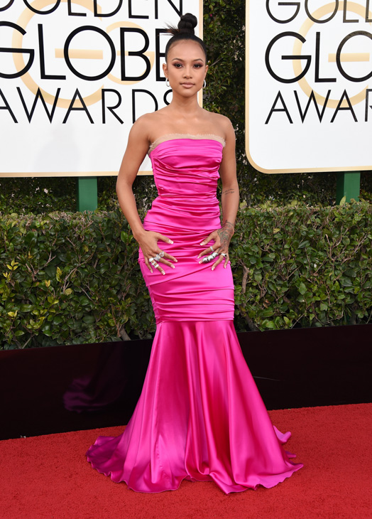 "<div class=""meta image-caption""><div class=""origin-logo origin-image none""><span>none</span></div><span class=""caption-text"">Karrueche Tran arrives at the 74th annual Golden Globe Awards at the Beverly Hilton Hotel on Sunday, Jan. 8, 2017, in Beverly Hills, Calif. (Jordan Strauss/Invision/AP)</span></div>"