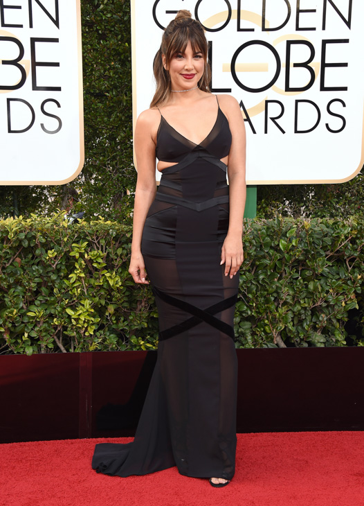 <div class='meta'><div class='origin-logo' data-origin='none'></div><span class='caption-text' data-credit='Jordan Strauss/Invision/AP'>Liz Hernandez arrives at the 74th annual Golden Globe Awards at the Beverly Hilton Hotel on Sunday, Jan. 8, 2017, in Beverly Hills, Calif.</span></div>