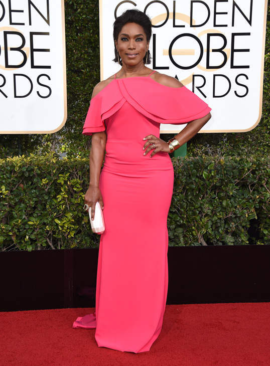 <div class='meta'><div class='origin-logo' data-origin='none'></div><span class='caption-text' data-credit='Jordan Strauss/Invision/AP'>Angela Bassett arrives at the 74th annual Golden Globe Awards at the Beverly Hilton Hotel on Sunday, Jan. 8, 2017, in Beverly Hills, Calif.</span></div>