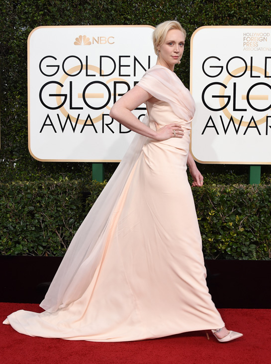 <div class='meta'><div class='origin-logo' data-origin='none'></div><span class='caption-text' data-credit='Jordan Strauss/Invision/AP'>Gwendoline Christie arrives at the 74th annual Golden Globe Awards at the Beverly Hilton Hotel on Sunday, Jan. 8, 2017, in Beverly Hills, Calif.</span></div>