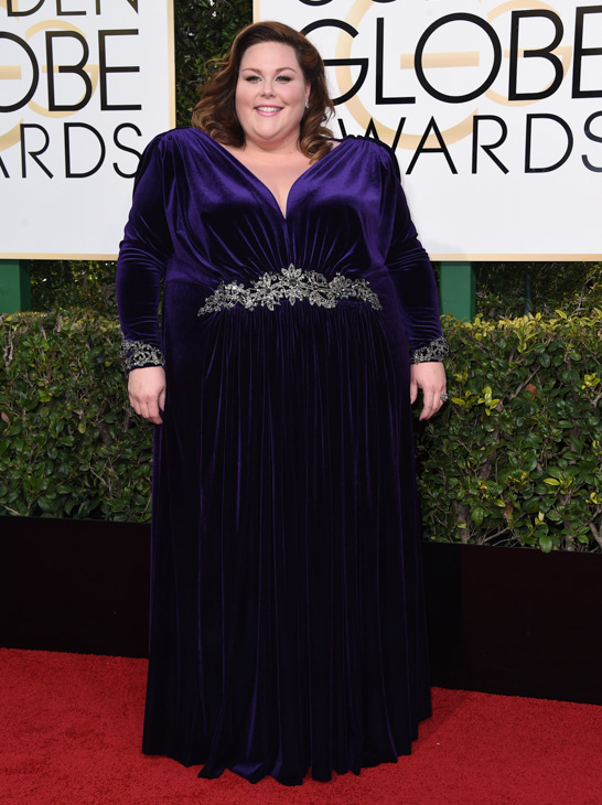 <div class='meta'><div class='origin-logo' data-origin='none'></div><span class='caption-text' data-credit='Jordan Strauss/Invision/AP'>Chrissy Metz arrives at the 74th annual Golden Globe Awards at the Beverly Hilton Hotel on Sunday, Jan. 8, 2017, in Beverly Hills, Calif.</span></div>