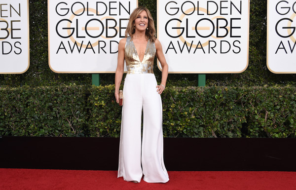 <div class='meta'><div class='origin-logo' data-origin='none'></div><span class='caption-text' data-credit='Jordan Strauss/Invision/AP'>Felicity Huffman arrives at the 74th annual Golden Globe Awards at the Beverly Hilton Hotel on Sunday, Jan. 8, 2017, in Beverly Hills, Calif.</span></div>