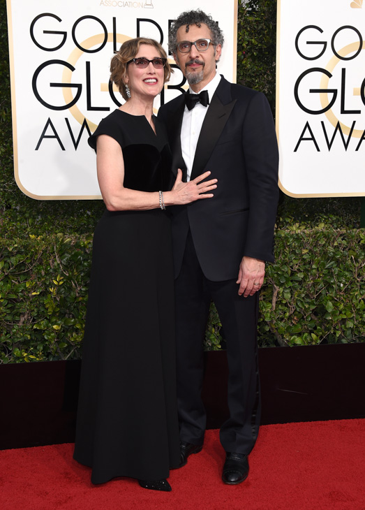 <div class='meta'><div class='origin-logo' data-origin='none'></div><span class='caption-text' data-credit='Jordan Strauss/Invision/AP'>Katherine Borowitz, left, and John Turturro arrive at the 74th annual Golden Globe Awards at the Beverly Hilton Hotel on Sunday, Jan. 8, 2017, in Beverly Hills, Calif.</span></div>