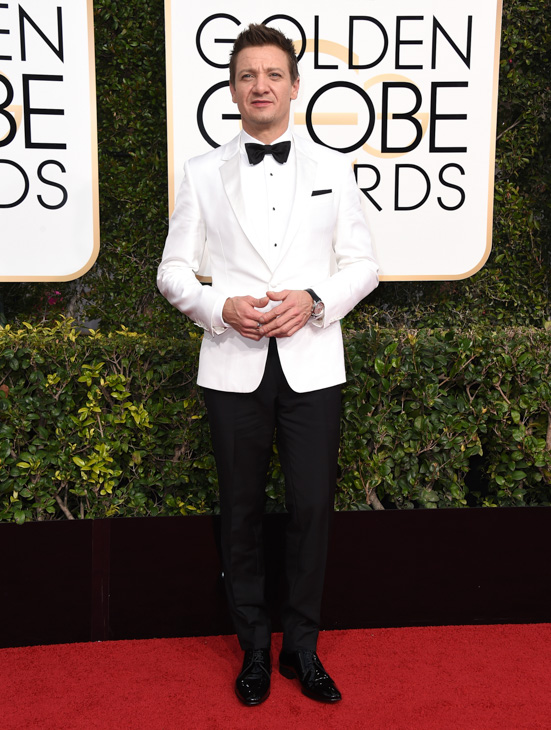 <div class='meta'><div class='origin-logo' data-origin='none'></div><span class='caption-text' data-credit='Jordan Strauss/Invision/AP'>Jeremy Renner arrives at the 74th annual Golden Globe Awards at the Beverly Hilton Hotel on Sunday, Jan. 8, 2017, in Beverly Hills, Calif.</span></div>