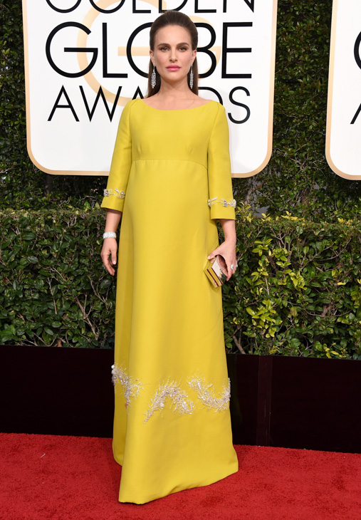 <div class='meta'><div class='origin-logo' data-origin='none'></div><span class='caption-text' data-credit='Jordan Strauss/Invision/AP'>Natalie Portman arrives at the 74th annual Golden Globe Awards at the Beverly Hilton Hotel on Sunday, Jan. 8, 2017, in Beverly Hills, Calif.</span></div>
