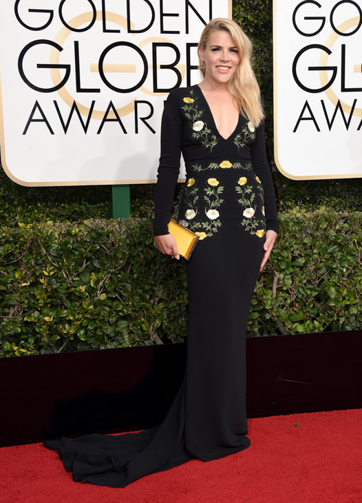 "<div class=""meta image-caption""><div class=""origin-logo origin-image none""><span>none</span></div><span class=""caption-text"">Busy Philipps arrives at the 74th annual Golden Globe Awards at the Beverly Hilton Hotel on Sunday, Jan. 8, 2017, in Beverly Hills, Calif. (Jordan Strauss/Invision/AP)</span></div>"