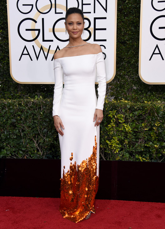 <div class='meta'><div class='origin-logo' data-origin='none'></div><span class='caption-text' data-credit='Jordan Strauss/Invision/AP'>Thandie Newton arrives at the 74th annual Golden Globe Awards at the Beverly Hilton Hotel on Sunday, Jan. 8, 2017, in Beverly Hills, Calif.</span></div>