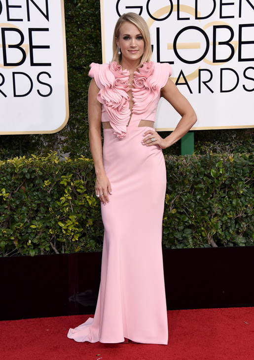 <div class='meta'><div class='origin-logo' data-origin='none'></div><span class='caption-text' data-credit='Jordan Strauss/Invision/AP'>Carrie Underwood arrives at the 74th annual Golden Globe Awards at the Beverly Hilton Hotel on Sunday, Jan. 8, 2017, in Beverly Hills, Calif.</span></div>