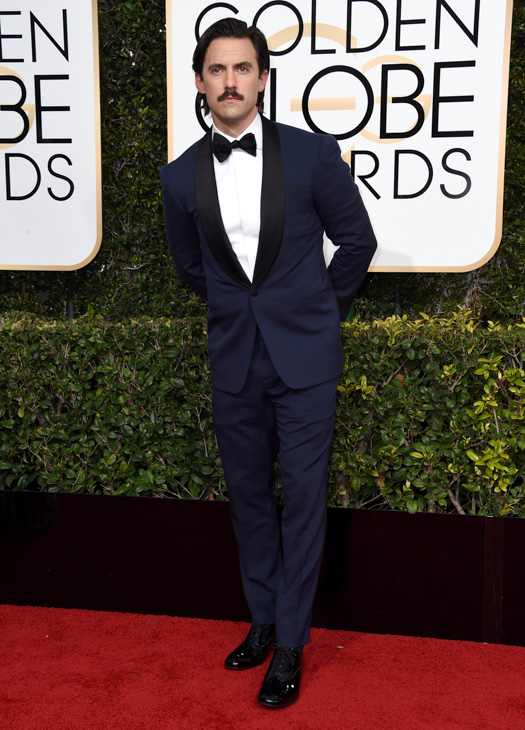 <div class='meta'><div class='origin-logo' data-origin='none'></div><span class='caption-text' data-credit='Jordan Strauss/Invision/AP'>Milo Ventimiglia arrives at the 74th annual Golden Globe Awards at the Beverly Hilton Hotel on Sunday, Jan. 8, 2017, in Beverly Hills, Calif.</span></div>