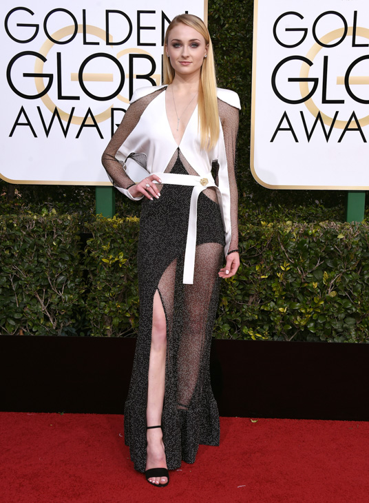 <div class='meta'><div class='origin-logo' data-origin='none'></div><span class='caption-text' data-credit='Jordan Strauss/Invision/AP'>Sophie Turner arrives at the 74th annual Golden Globe Awards at the Beverly Hilton Hotel on Sunday, Jan. 8, 2017, in Beverly Hills, Calif.</span></div>