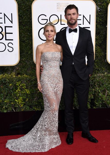 "<div class=""meta image-caption""><div class=""origin-logo origin-image none""><span>none</span></div><span class=""caption-text"">Elsa Pataky, left, and Chris Hemsworth arrive at the 74th annual Golden Globe Awards at the Beverly Hilton Hotel on Sunday, Jan. 8, 2017, in Beverly Hills, Calif. (Jordan Strauss/Invision/AP)</span></div>"