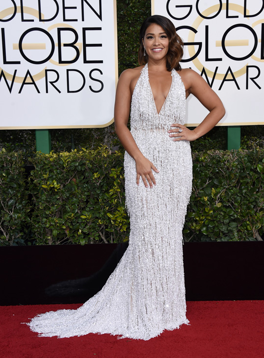 "<div class=""meta image-caption""><div class=""origin-logo origin-image none""><span>none</span></div><span class=""caption-text"">Gina Rodriguez arrives at the 74th annual Golden Globe Awards at the Beverly Hilton Hotel on Sunday, Jan. 8, 2017, in Beverly Hills, Calif. (Jordan Strauss/Invision/AP)</span></div>"