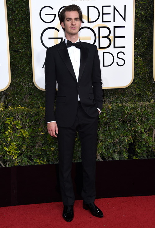 <div class='meta'><div class='origin-logo' data-origin='none'></div><span class='caption-text' data-credit='Jordan Strauss/Invision/AP'>Andrew Garfield arrives at the 74th annual Golden Globe Awards at the Beverly Hilton Hotel on Sunday, Jan. 8, 2017, in Beverly Hills, Calif.</span></div>