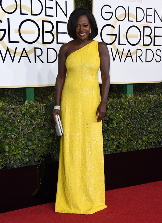 <div class='meta'><div class='origin-logo' data-origin='none'></div><span class='caption-text' data-credit='Jordan Strauss/Invision/AP'>Viola Davis arrives at the 74th annual Golden Globe Awards at the Beverly Hilton Hotel on Sunday, Jan. 8, 2017, in Beverly Hills, Calif.</span></div>