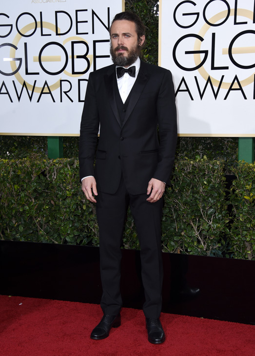 <div class='meta'><div class='origin-logo' data-origin='none'></div><span class='caption-text' data-credit='Jordan Strauss/Invision/AP'>Casey Affleck arrives at the 74th annual Golden Globe Awards at the Beverly Hilton Hotel on Sunday, Jan. 8, 2017, in Beverly Hills, Calif.</span></div>