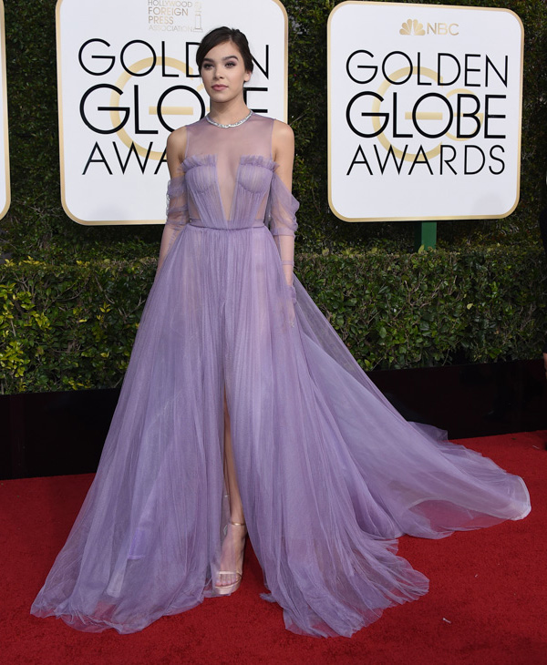 <div class='meta'><div class='origin-logo' data-origin='none'></div><span class='caption-text' data-credit='Jordan Strauss/Invision/AP'>Hailee Steinfeld arrives at the 74th annual Golden Globe Awards at the Beverly Hilton Hotel on Sunday, Jan. 8, 2017, in Beverly Hills, Calif.</span></div>