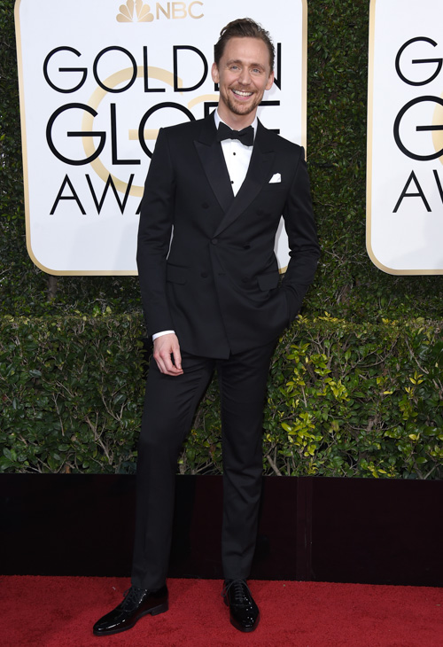 <div class='meta'><div class='origin-logo' data-origin='none'></div><span class='caption-text' data-credit='Jordan Strauss/Invision/AP'>Tom Hiddleston arrives at the 74th annual Golden Globe Awards at the Beverly Hilton Hotel on Sunday, Jan. 8, 2017, in Beverly Hills, Calif.</span></div>