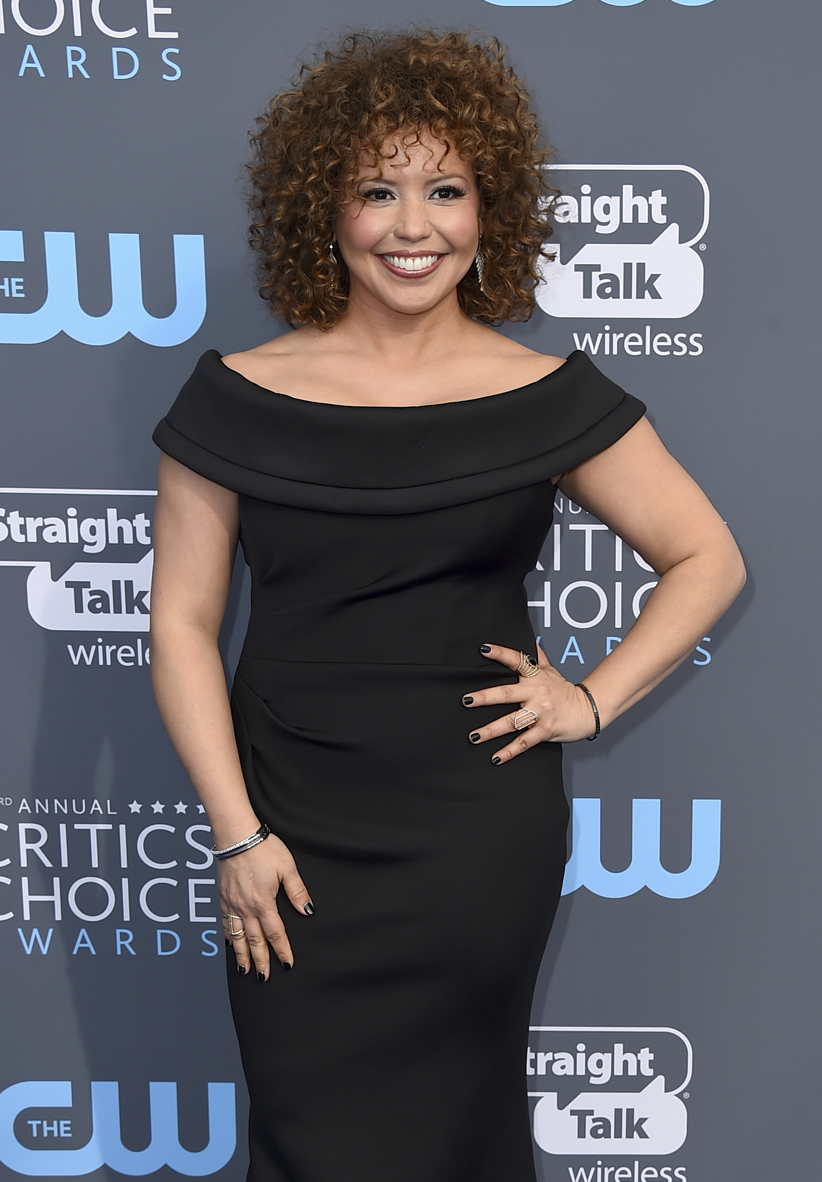 <div class='meta'><div class='origin-logo' data-origin='AP'></div><span class='caption-text' data-credit='Jordan Strauss/Invision/AP'>Justina Machado arrives at the 23rd annual Critics' Choice Awards at the Barker Hangar on Thursday, Jan. 11, 2018, in Santa Monica, Calif.</span></div>