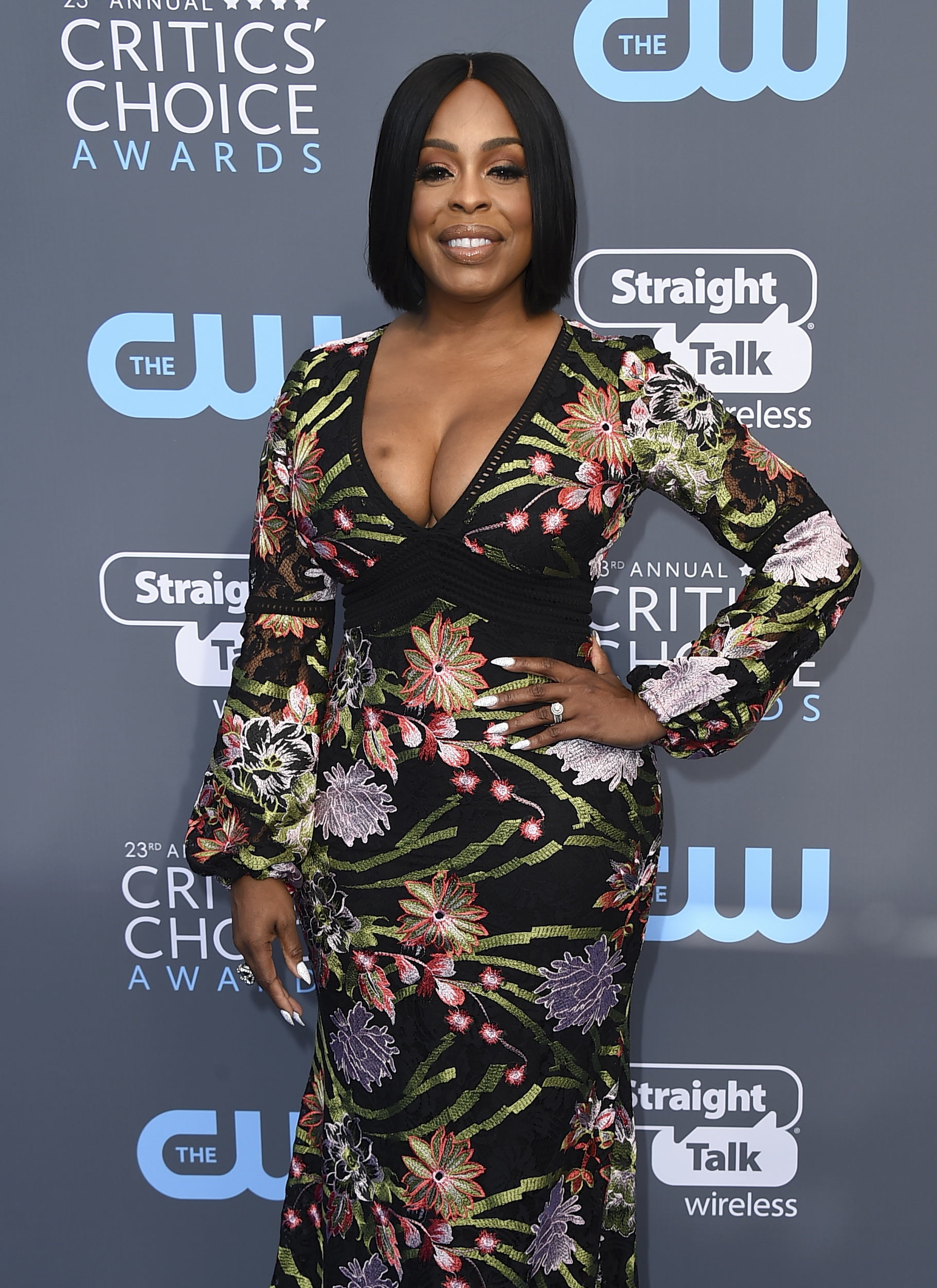 <div class='meta'><div class='origin-logo' data-origin='AP'></div><span class='caption-text' data-credit='Jordan Strauss/Invision/AP'>Niecy Nash arrives at the 23rd annual Critics' Choice Awards at the Barker Hangar on Thursday, Jan. 11, 2018, in Santa Monica, Calif.</span></div>