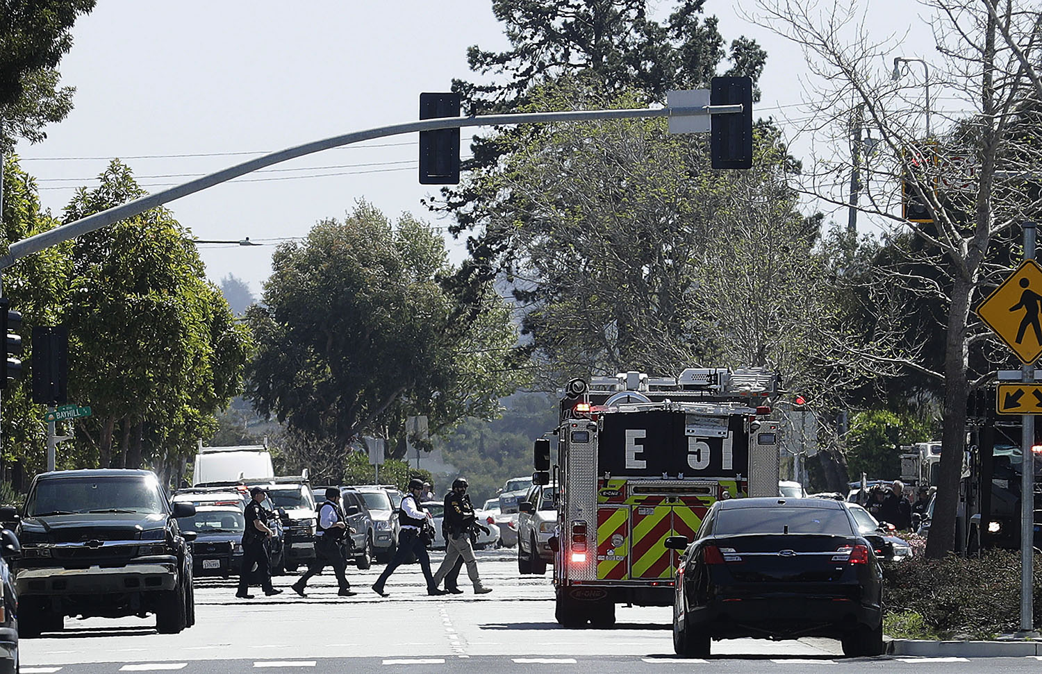 <div class='meta'><div class='origin-logo' data-origin='none'></div><span class='caption-text' data-credit='Jeff Chiu/AP Photo'>Police in Northern California are responding to reports of a shooting at YouTube headquarters in the city of San Bruno.</span></div>