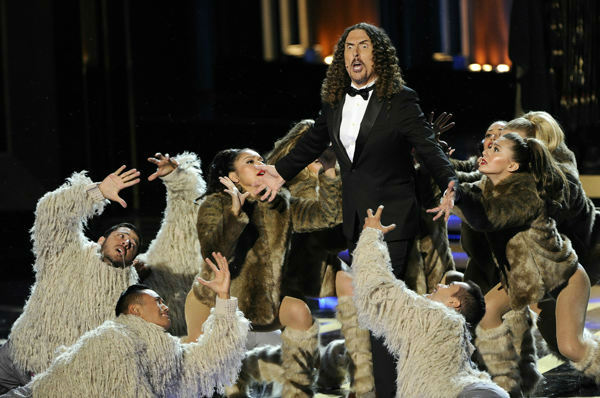Riding on the success of his album &#39;&#39;Mandatory Fun,&#39;&#39; Weird Al Yankovic performed a medley parodying theme songs of popular shows, with &#39;&#39;Game of Thrones&#39;&#39; as the big finale. <span class=meta>(Photo&#47;Chris Pizzello)</span>
