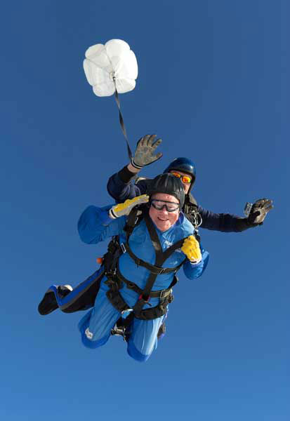 Vernon Maynard, bottom, skydives with instuctor James Perez to celebrate his 100th birthday over Perris, Calif., Monday, Nov. 4, 2013.   <span class=meta>(AP Photo&#47; Uncredited)</span>