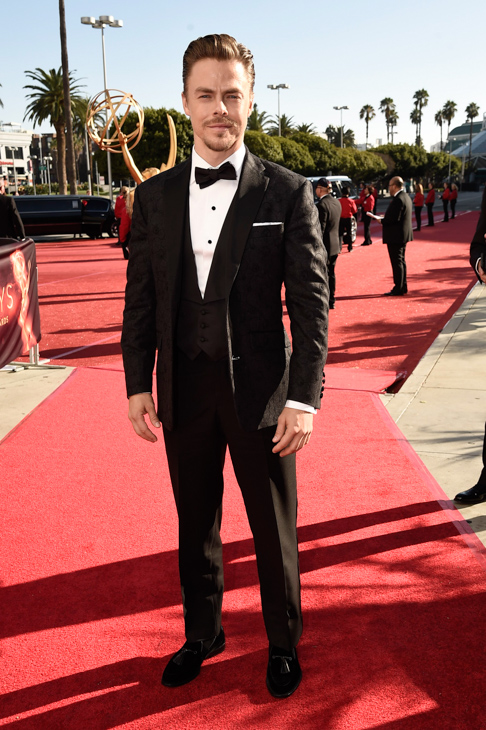 <div class='meta'><div class='origin-logo' data-origin='AP'></div><span class='caption-text' data-credit='Dan Steinberg/Invision/AP'>EXCLUSIVE - Derek Hough arrives at the 68th Primetime Emmy Awards on Sunday, Sept. 18, 2016, at the Microsoft Theater in Los Angeles.</span></div>