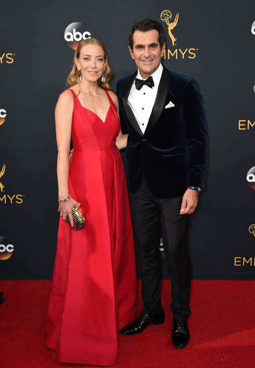 <div class='meta'><div class='origin-logo' data-origin='AP'></div><span class='caption-text' data-credit='Jordan Strauss/Invision/AP'>Holly Burrell, left, and Ty Burrell arrive at the 68th Primetime Emmy Awards on Sunday, Sept. 18, 2016, at the Microsoft Theater in Los Angeles.</span></div>