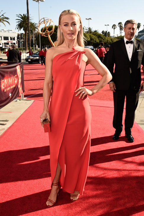 <div class='meta'><div class='origin-logo' data-origin='AP'></div><span class='caption-text' data-credit='Dan Steinberg/Invision/AP'>EXCLUSIVE - Julianne Hough arrives at the 68th Primetime Emmy Awards on Sunday, Sept. 18, 2016, at the Microsoft Theater in Los Angeles.</span></div>