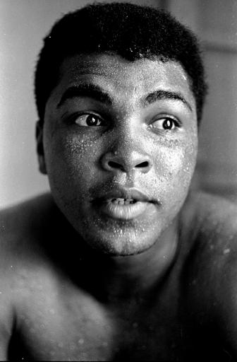 <div class='meta'><div class='origin-logo' data-origin='none'></div><span class='caption-text' data-credit='AP'>Perspiration beads the face of world heavyweight boxing champion Muhammad Ali shown in training for his May 25, 1965 fight with Sonny Liston at Lewiston, Maine.</span></div>