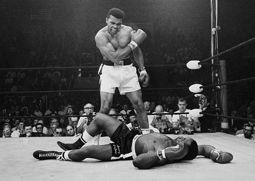 <div class='meta'><div class='origin-logo' data-origin='none'></div><span class='caption-text' data-credit='AP'>Heavyweight champion Muhammad Ali stands over fallen challenger Sonny Liston.</span></div>