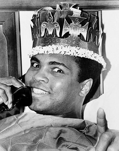 <div class='meta'><div class='origin-logo' data-origin='none'></div><span class='caption-text' data-credit='AP'>Muhammad Ali is seen in a jovial mood two days before his March 8, 1971 bout with Joe Frazier.</span></div>