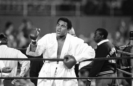 <div class='meta'><div class='origin-logo' data-origin='none'></div><span class='caption-text' data-credit='AP'>Muhammad Ali is seen prior to the first round of his title fight against heavyweight contender Ken Norton in 1976.</span></div>