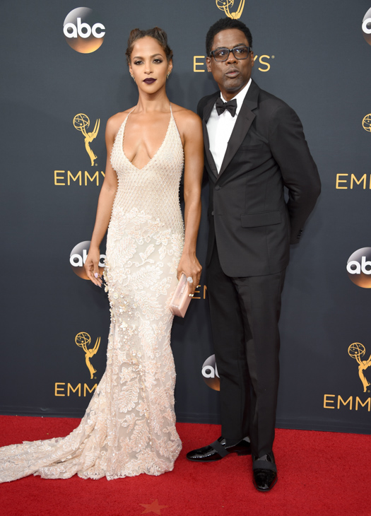 <div class='meta'><div class='origin-logo' data-origin='AP'></div><span class='caption-text' data-credit='Phil McCarten/Invision/AP'>Malaak Compton Rock, left, and Chris Rock arrive at the 68th Primetime Emmy Awards on Sunday, Sept. 18, 2016, at the Microsoft Theater in Los Angeles.</span></div>